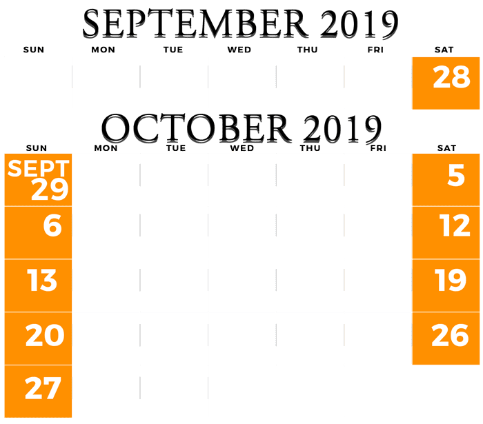2019 Old West Pumpkinfest Hours